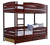 Двухъярусная кровать Дует Плюс Щит, с ящиками ДСП + защитный бортик, фото 3