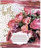 Тетрадь школьная в клеточку Лидер 24 листа, цветы, фото 2