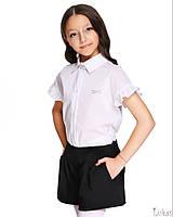 Школьная Рубашка белая спущенный рукав для девочек Lukas