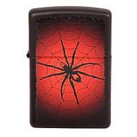 Zippo 218.528 RED WEB black matte