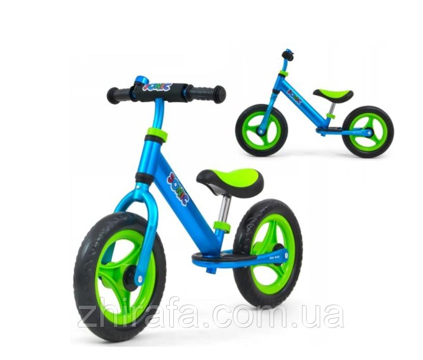 Суперлегкий Беговел велобіг від з підніжкою Milly Mally Sonic, 3 кг