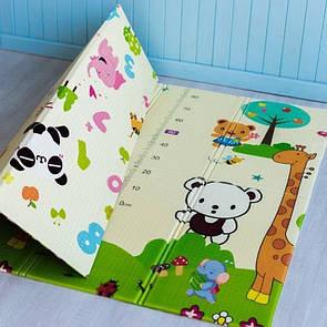 """Дитячий двосторонній складний ігровий килимок з лінійкою """"Play"""""""