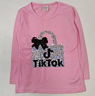 Детская кофта реглан хлопковый для девочки Tiktok тикток розовая 3-4 года