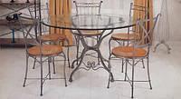 Столовый кованый набор мебели