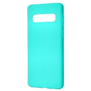 Чехол для Samsung Galaxy S10 Plus тонкий однотонный накладка чохол на самсунг с10 плюс бирюзовый