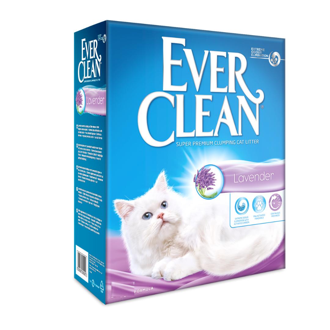 Бентонітовий наповнювач Ever Clean Lavender Евер Клін з ароматом лаванди 6 л