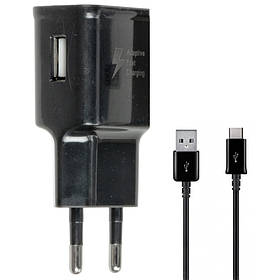 Зарядное устройство к телефону Samsung Travel Adapter (2A/15W) + кабель USB to Type-C, в упак..