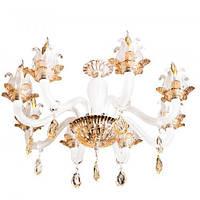Люстра хрустальная на 6 ламп Sunlight ST113 Золотистый   Белый 10096, КОД: 1344875