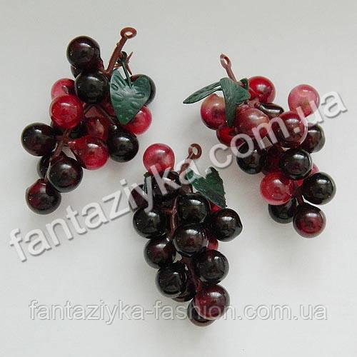 Искусственный виноград маленький круглый 6см, фиолетовый