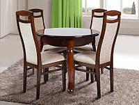 Комплект обеденный Гаити круглый массив дуба (стол + 4 стула)