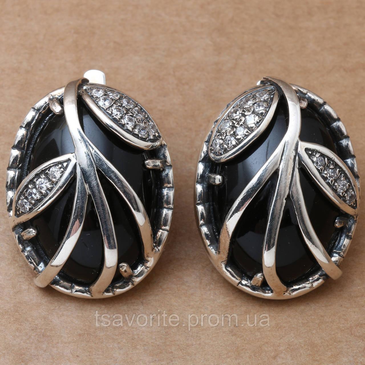Серебряные серьги 422КН