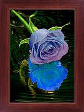 """Набор для рисования камнями 5D (частичная выкладка на холсте) """"Голубая роза"""" LasKo"""