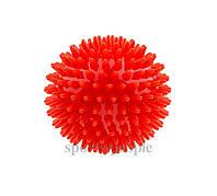 Мячик массажный, с пупырышками, резиновый, (сжимается), Ø 7 см, окружность 22 см, разн. цвета, фото 1