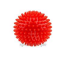Мячик массажный, с пупырышками, резиновый, (сжимается), Ø 7 см, окружность 22 см, разн. цвета