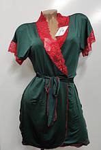 Халаты женские летние,комплекты домашние (халат+рубашка)
