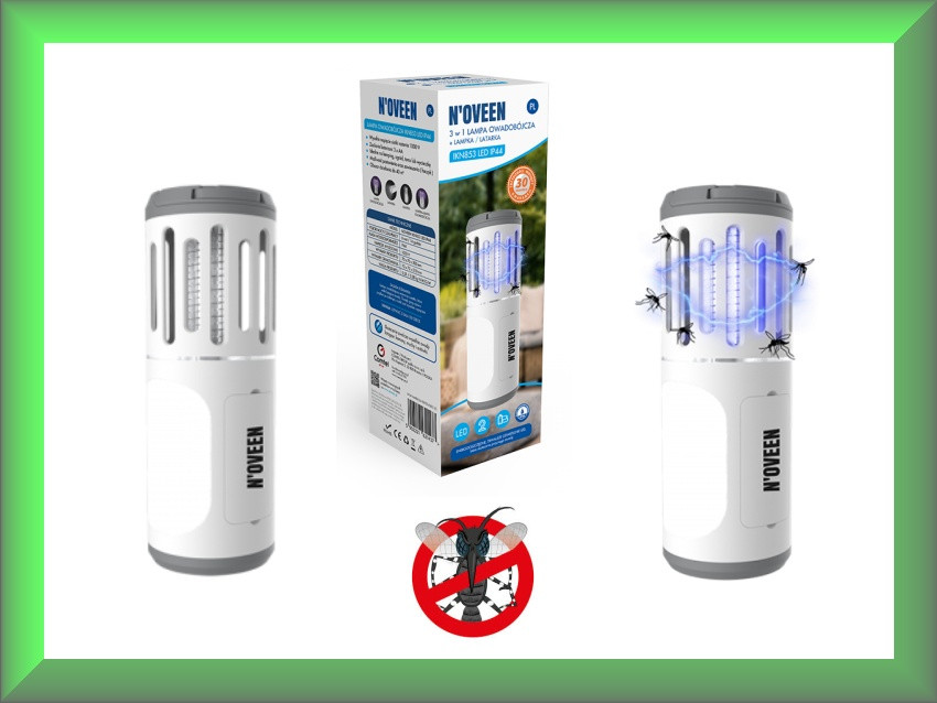 Портативный фонарь-уничтожитель насекомых Noveen IKN853 (40 м², от батареек)