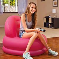 Кресло надувное розовое Intex  99*84*76 см