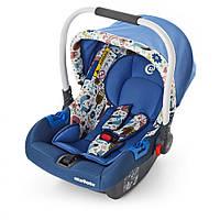 Автомобильное кресло ME 1009-1, автокресло-переноска, бебикокон для новорожденных от 0 до 15 мес, синий