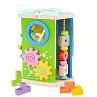 Развивающая деревянная игрушка бизиборд 1298