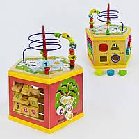 Развивающая деревянная игрушка бизиборд 5 в 1 арт. 31352