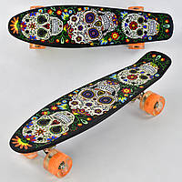 Пенни борд Penny Board (скейт) со светящимися передним колесом
