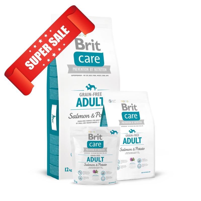 Сухой корм для собак Brit Care Grain-free Adult Salmon & Potato 1 кг