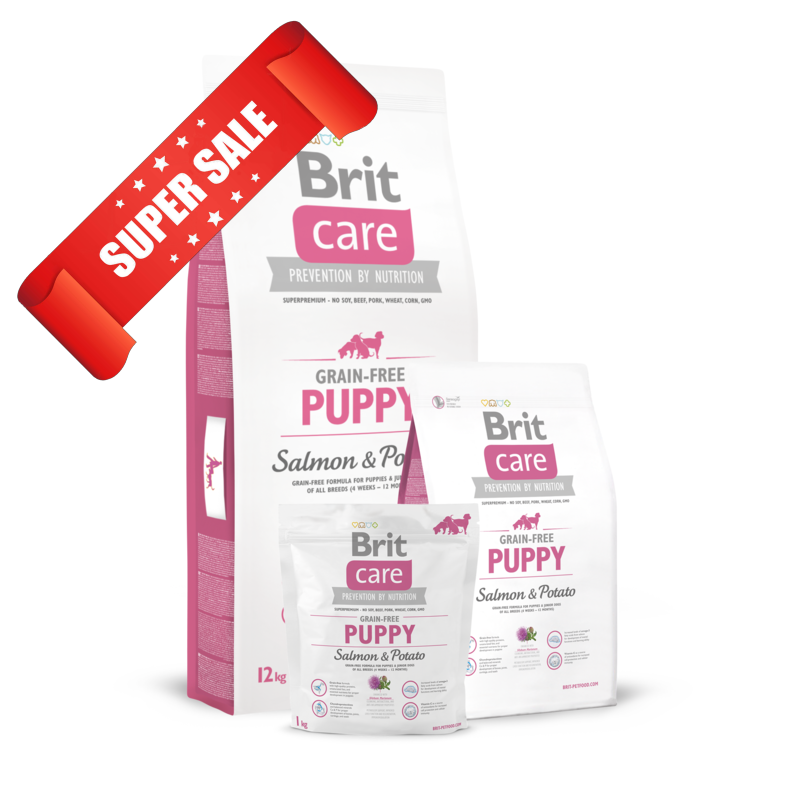 Сухой корм для собак Brit Care Grain-free Puppy Salmon & Potato 3 кг