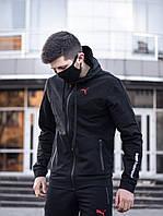 Спортивный костюм + Подарок мужской Puma BMW Motosport осенний черный| Кофта + Штаны Пума ЛЮКС
