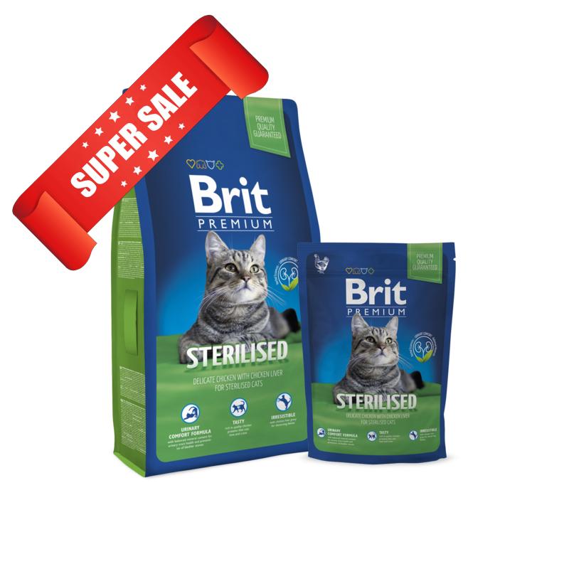 Сухой корм для котов Brit Premium Cat Sterilised 0,8 кг