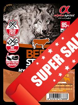 Лакомство для собак Alpha Spirit Sticks Beef 40 г х 4 шт