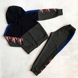 Спортивний костюм для хлопчика підлітка Цифри 152, Темно-сірий