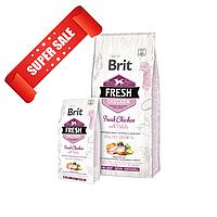 Сухой корм для щенков Brit Fresh Chicken with Potato Puppy Healthy Growth 12 кг