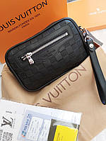 Мужская сумка барсетка Louis Vuitton 21576 черная