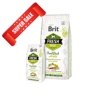 Сухой корм для собак Brit Fresh Duck with Millet Adult Run & Work 12 кг