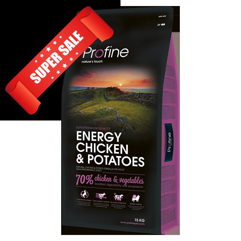 Сухой корм для собак Profine Energy Chicken & Potatoes 3 кг