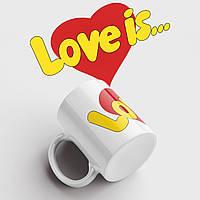 Чашка подарунок коханому / коханій Love is. Чашка з принтом Love is. Чашка з фото, фото 1