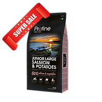 Сухой корм для шенков Profine Junior Large Salmon & Potatoes 15 кг