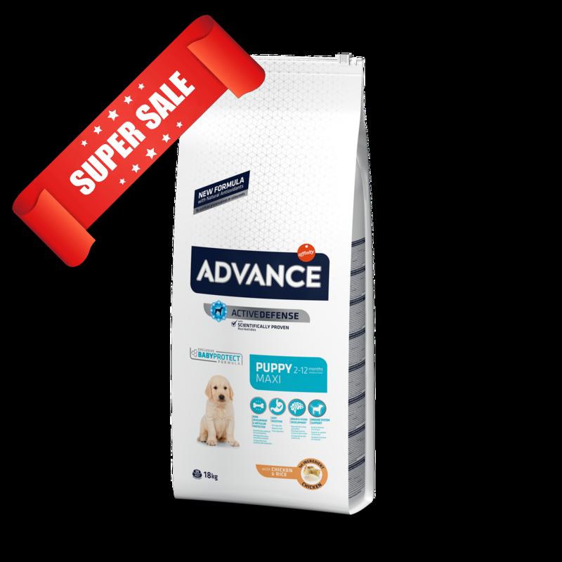 Сухой корм для собак Advance Maxi Puppy 18 кг