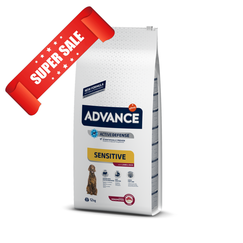 Сухой корм для собак Advance Medium-Maxi Sensitive Lamb & Rice 3 кг