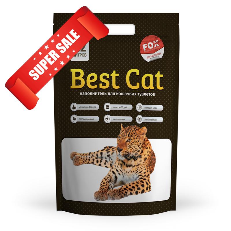 Силикагелевый наполнитель для кошачьего туалета Best Cat White 15 л