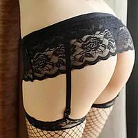 Эротический сексуальный кружевной пояс для чулков
