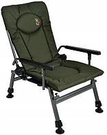 Кресло карповое рыбацкое Elektrostatyk F5R с подлокотниками, 2021 Новая модель