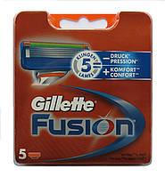 Картриджи Gillette Fusion  Оригинал  5 шт в упаковке производство Германия