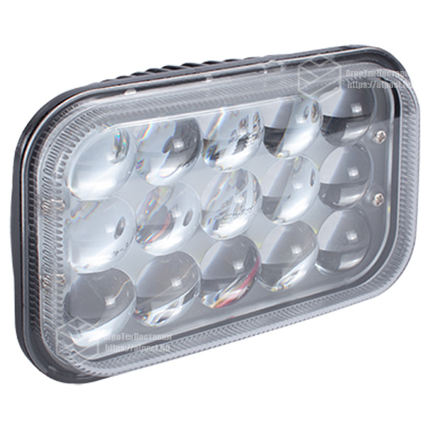 Фара LED прямоугольная 45W (15 диодов) 3D линза (160 мм х 80 мм х 105 мм)