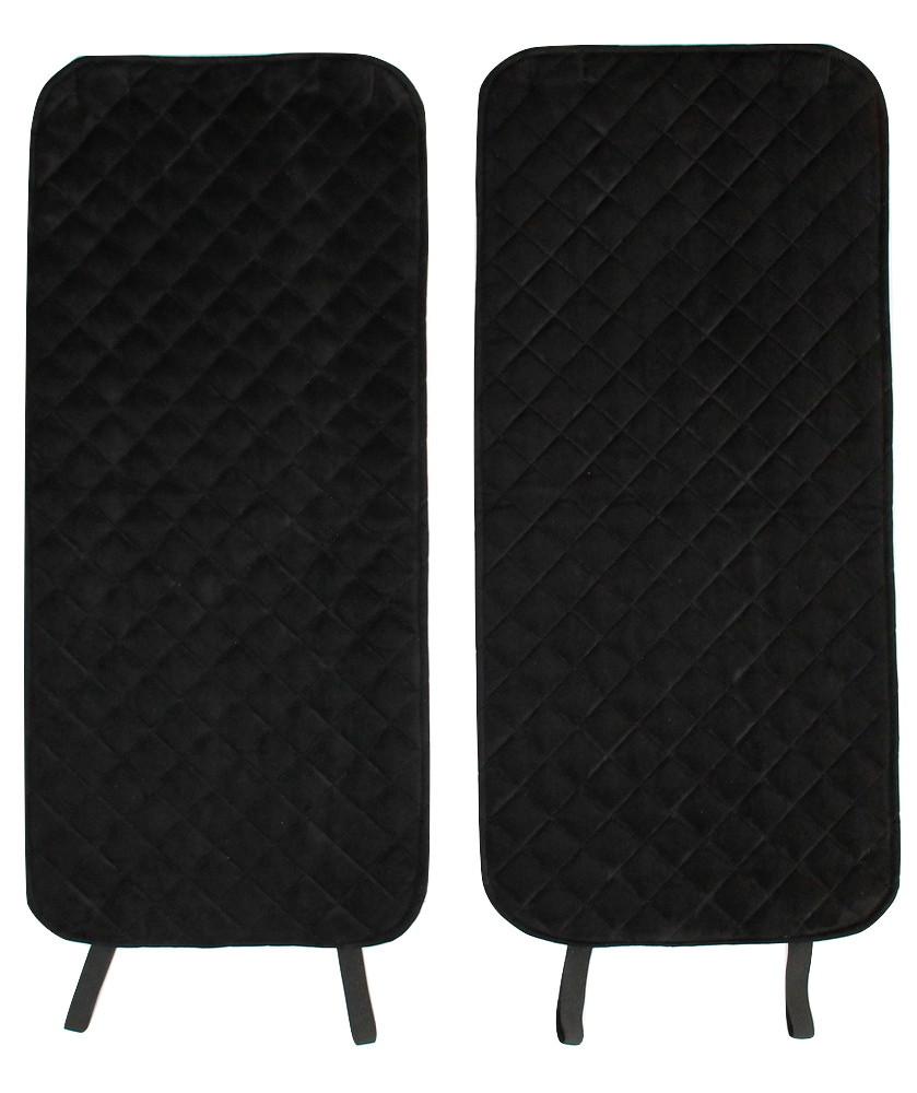 Накидки чехлы на сидения автомобиля из Алькантары Эко-замша задние универсальные защитные авточехлы Черные - фото 8