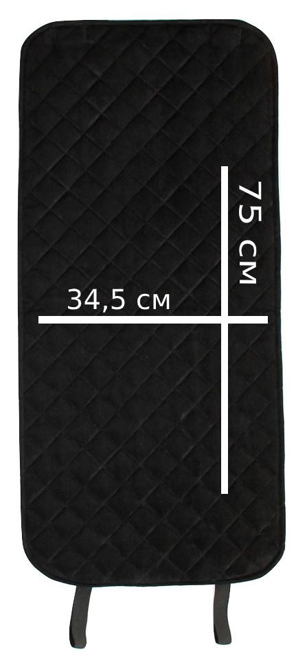 Накидки чехлы на сидения автомобиля из Алькантары Эко-замша задние универсальные защитные авточехлы Черные - фото 9