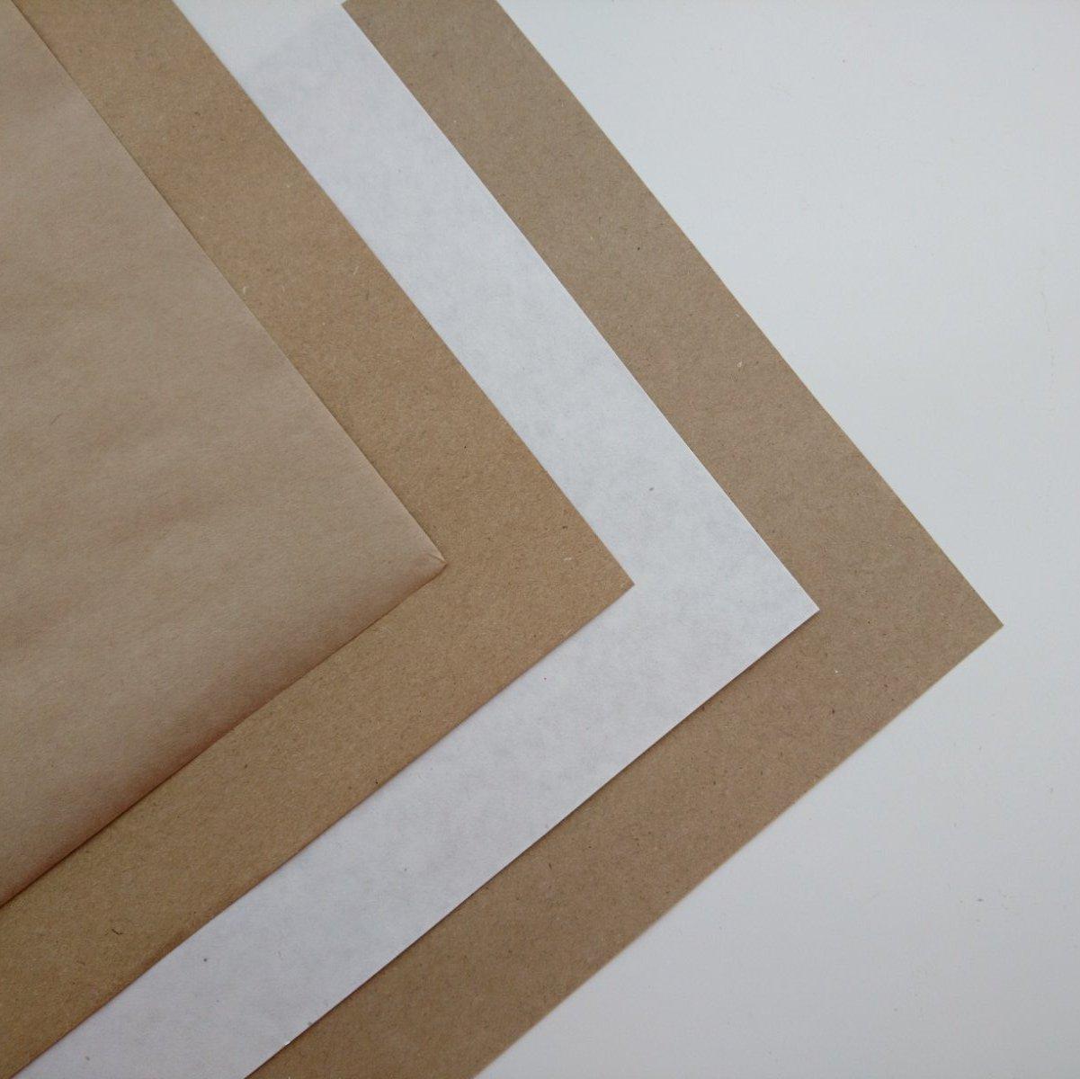 Крафт бумага А4, для печати, коричневая, белая, плотность 70 и 80 гр/кв.м