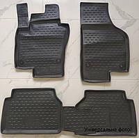 Коврики в салон VW Polo от 2010 г.в. 4шт. + перемычка седан (полиуретан) NOVLINE для автомобиля