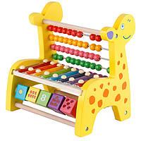 Деревянные детские счеты жираф. Игрушка Монтессори развивающая игрушка. Отличный подарок
