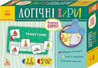 Логічні ігри Кенгуру 2+ Вивчай форми 24 картки Укр (292820)